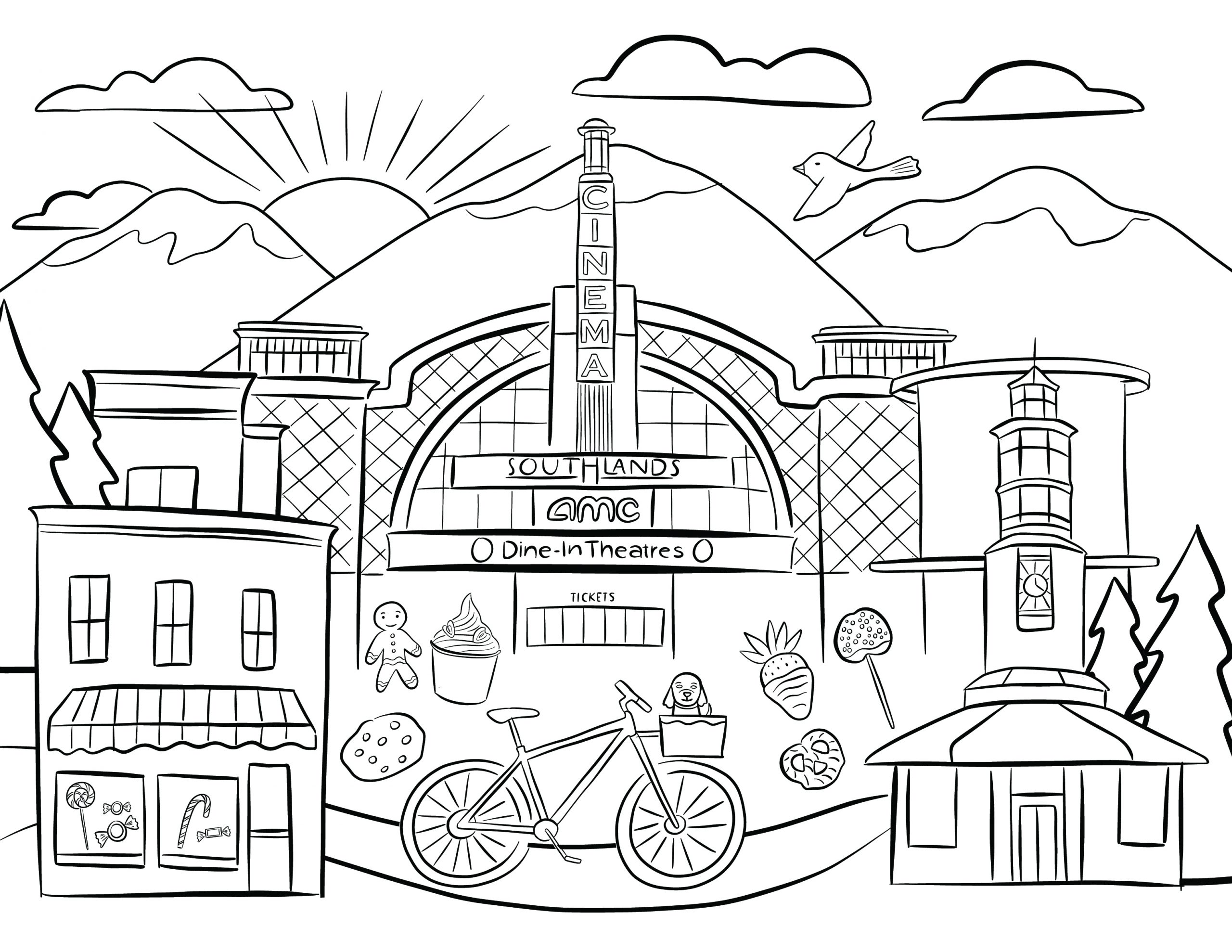 Southlands Coloring Page